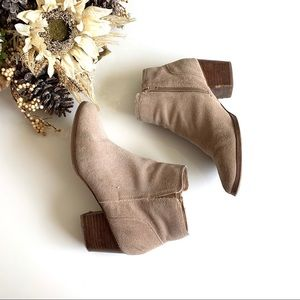 Aldo Faux Suede Nude Ankle Boots